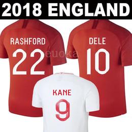 Wholesale Thailand Jerseys - Thailand 2018 England World Cup Soccer Jerseys DELE KANE BARKLEY RASHFORD STERLING WILSHERE 18 19 England National Team Football Shirts