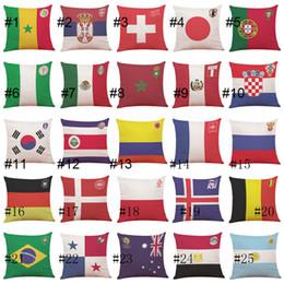 Las fundas de almohada de la Copa del mundo 2018 imprimieron los 32 mejores equipos de la barra del coche del sofá del hogar del cojín de la caja de almohada de la ropa de algodón desde fabricantes