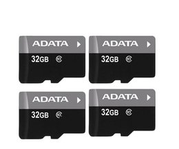 Wholesale 16gb Memory - DHL 100% Real ADATA 4GB 8GB 16GB 32GB 64GB Class10 Micro SD TF Memory SDHC Card SD Adapter Retail Package