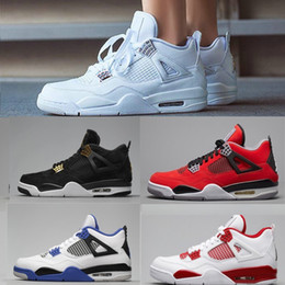san francisco eff35 81935 Nike air jordan 4 4s 2018 vendita calda Scarpe da basket 4 4s Puro Soldi  Royalty White Cemento Premium Nero Bred Fire Red mens Sneakers sportive  shopping ...