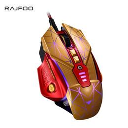 Configuración del ratón de la computadora online-RAJFOO Laser 8 teclas ratón para juegos con ajustes macro 128K memoria inteligente 4000DPI 5 colores retroiluminado ratón USB para juego de computadora