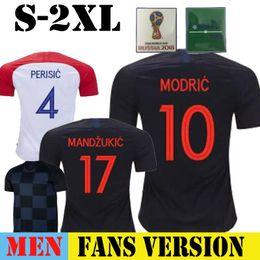 Por xícara on-line-2018 copa do mundo casa longe camisa de futebol croa MODAN MANDZUKIC PERISIC 10 17 camisa de futebol KOVACIC RAKITIC SRNA BROZOVIC KALINIC uniformes PER
