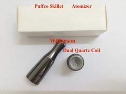Date Puffco Vaporisateur Skillet 2 Atomiseur avec Double Quartz Rod Bobines Remplaçable Bobine Tête Fit eGo Evod eGo-C Twister Batterie ? partir de fabricateur
