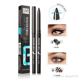 Olho adesivos eyeliner on-line-Longa Duração Pigmentos À Prova D 'Água Gel Eye Liner Lápis Preto Marrom Natural Fácil de Vestir Marca Delineador Adesivos Maquiagem