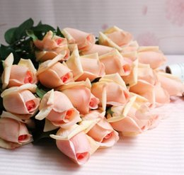 2019 fiori freschi di rosa Il nuovo disegno Fresh Rose fiori reali artificiali di tocco Rosa fiori, decorazioni domestiche per il partito matrimonio o di compleanno fiori freschi di rosa economici