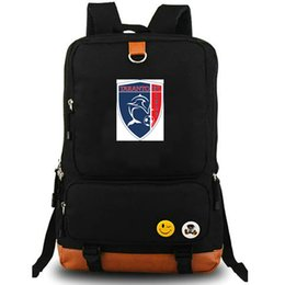 Taranto FC backpack Ionics cool Football club school bag daypack Soccer  badge schoolbag Outdoor rucksack Sport day pack ec98c69cab536