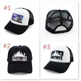 Wholesale hip hop winter caps - Fortnite Cap man baseball cap male snapback summer Breathable hats bone man hip hop hat for women funny Quick drying caps