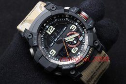 Wholesale Compass Water - High quality AAA men's sports GG1000 Compass and thermometer functions watch LED chronograph GA100 110 waterproof with Original box