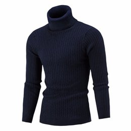 Wholesale Black Hedge - Wholesale-Sweater Pullover Men 2017 Male Brand Casual Solid-Color Knitt Simple Sweaters Men Comfortable Hedging Turtleneck Men'S Sweater