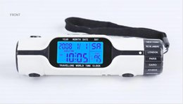 Wholesale World Time Alarm Clock - Multi-function Digital LCD Backlight Alarm Clock Traveling World Time With LED Torch Flashlight Thermometer Calendar