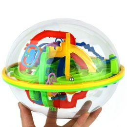 Wholesale logic toys - Wholesale-Magic Intellect Ball 3D Maze Puzzle Children Brain Game Balance Ability Educational Logic Kids Gift Toys