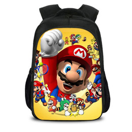 gifts for teens girls Coupons - New Hot Cartoon Mario Backpack Bookbag Teens Back to School Bags Super Mario Gifts For Boys Girls Bros Birthday Bag H247