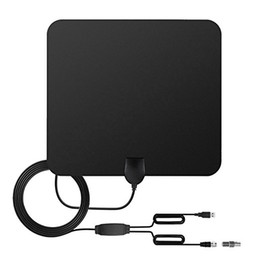 Wholesale Usb Power Cables - TV Antenna Indoor Amplified HDTV Antenna 50 miles Range with Amplifier Signal Booster USB Power Supply and 13FT High Performance Coax Cable