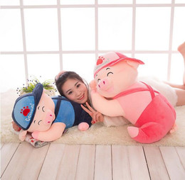 Wholesale Cute Pig Plush Toy - New Arrival Cute McDull pig Plush Toy Doll Expression Lying Pig Baby Children Sleeping Pillow Toy