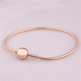 essence bracelet Coupons - New 925 Sterling Silver Bead Charm Snake Chain Fit Original Rose Gold Essence Bracelet for Women DIY Europe Jewelry Gift