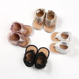 2019 caoutchouc CX084 Bébé filles sandales chaussures pour bébé mocassins premiers marcheurs fond mou antidérapants 2018 nouvelle conception glands sandales pour enfants.