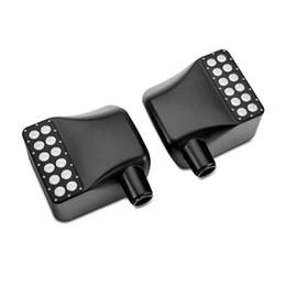 Luzes led espelho retrovisor on-line-Para Jeep Wrangler JK LED Off Road Atualização Espelho Retrovisor w / Turn Signal Lights / DRL / Espelho Lateral Lâmpada Luzes