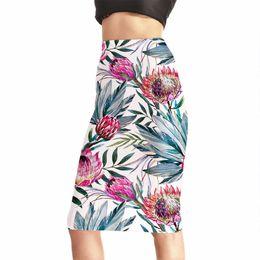 d493f15ff9a21 2018 New Skirt Pencil High Waist Skirts Vintage Elegant Style Floral Print  Flower Skirt For Women Summer Plus Size