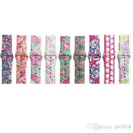 relógios de luxo Desconto Bandas para apple watch bandas de substituição lilly inspirado Pulitzer Silicone 38mm 42mm Watch Band Straps Pulseira De Luxo para as mulheres menina