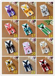 Wholesale Accessories For Boys - 50sets 26colors Kids Suspenders Bow Tie Set for 1-10T Baby Braces Elastic Y-back Boys Girls Suspenders accessories