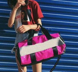 Wholesale large red bowl - multicolor sport Bags Women Luxury Handbags pin Letter Large Capacity Travel Duffle Striped Waterproof Beach Bagon Shoulder for Outdoor bags
