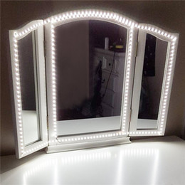 Lámpara de mesa de atenuación online-Kit de luz de tira de LED 13ft / 4M 240 LEDs Maquillaje de tocador Luces de espejo Regla de juego de mesas de maquillaje para baño de sala Lámparas decorativas