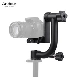 Trípodes panorámicos online-Andoer Heavy Duty Metal Gimbal panorámico Trípode Head para Arca-Swiss Quick Release Plate para Canon Nikon Sony DSLR Camcorder