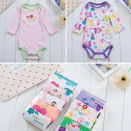 Wholesale Clothing Cheap Suit - 5 Baby Pieces Long sleeve triangle ha clothing baby romper suit pure cotton during the spring and autumn baby climb clothes Cheap Wholesale