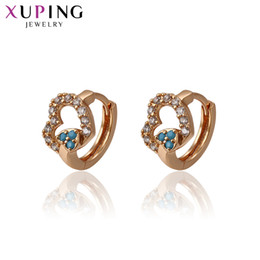 Wholesale Fashion Jewelry Deals - whole sale11.11 Deals Xuping Fashion Heart-shaped Earrings Gold Color Plated for Women Jewelry Thanksgiving Day Gift S58,1-93374