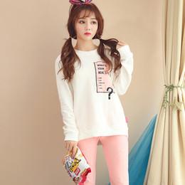 100% Cotton Cute Girls Pajamas Sets for Women 2018 Autumn Winter Long Sleeve  O-Neck Pyjamas Homewear Lounge Pijama Home Clothing discount women winter  ... d913a55e8