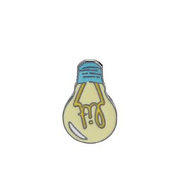 Wholesale gemstone buttons - Cartoon Enamel Brooch Lit Light Bulb Bag Denim Jacket Lapel Collar Pin Button Pin Badge Fashion Jewelry Gift For Kids Girl Boy