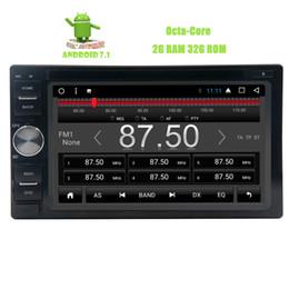 Sistema operativo chino online-Doble 2 Din Android 7.1 Nougat OS Car DVD Player Octa-core 2G RAM + 32G ROM Autoradio Bluetooth 6.2 '' pantalla táctil capacitiva GPS HeadUnit