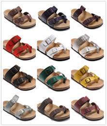 Canada Coloré Célèbre Marque Birk Hommes Femmes Plat Sandales À Talons Classcis Été Chaussures De Plage Avec Boucle De Haute Qualité En Cuir Véritable Pantoufle Offre