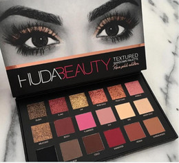 Wholesale Cosmetic Glitter Wholesale - Hot Sale HUDA Beauty eyeshadow palette shadow 18 colors Shimmer Matte Eye shadow Professional Eyes TEXTURED SHADOWS PALETTE Makeup Cosmetics