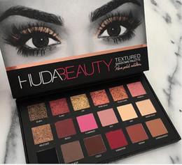 Wholesale Eyeshadow 18 Colors - Hot Sale HUDA Beauty eyeshadow palette shadow 18 colors Shimmer Matte Eye shadow Professional Eyes TEXTURED SHADOWS PALETTE Makeup Cosmetics