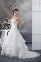 pictures bella UK - free shipping 2018 new design hot women brand dress custom size color beading bridal gown small train white bella wedding dress