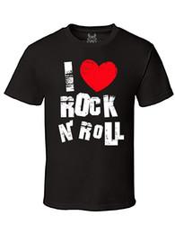 Gs-eagle Hommes I Love Rock N Rock Graphique T-shirt Homme Harajuku Top Fitness Marque Vêtements Imprimé À Manches Courtes Lettres T Shirt ? partir de fabricateur