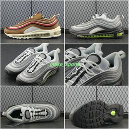 Wholesale Neon Casual Shoes - Air 97 Plus TN CR7 Green Neon TT PRM Running Shoes Swarovski Vlone Mens Trainers ULTRA silver Camo Casual Sports Sneakers 40-45 921733-003