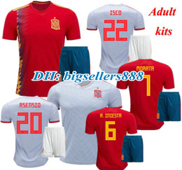 cb73a49ea A.INIESTA SILVA RAMOS PIQUE Spain soccer jersey 2018 World Cup MORATA  ASENSIO ISCO home kits Espana away 18 19 best quality football shirts