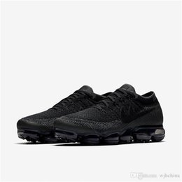 Wholesale Casual Tennis Shoes For Women - With Box VAPORMAX Running Shoes For Men Triple Black Athletic Sporting Walking Sneakers Women Breathable Casual Vapor Super AAA+ quality