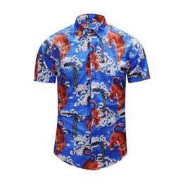 Wholesale Poplin Top - top quality 18 Of Men 3D Floral tiger Print Colour Mixture Luxury Casual Harajuku Shirts Long sleeves Men's Medusa Shirts M--2XL