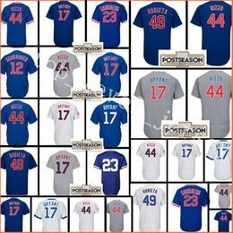 Wholesale Polyester Baseball Shorts - 2018 Men's Jersey #17 Kris Bryant 44 Anthony Rizzo 9 Baez 12 Schwarber 22 Heyward 23 Sandberg 49 Arrieta Flexbase CoolBase Baseball Jerseys