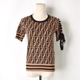 Canada T-shirts Femme Tops Tops Haute Qualité Harajuku T shirt Femme Manches Courtes Leer Tricoté TShirt D'été Tops Tee Femme Offre