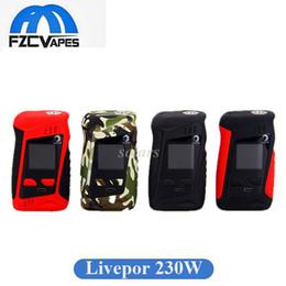 Tela de velocidade on-line-Autêntica Yosta Livepor 230 W Box Mod Rápida Velocidade de Aceleração E Cigarro Mod Vape com 1.33 polegadas IPS Tela 100% Original