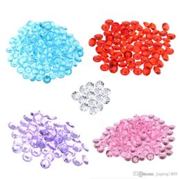 Wholesale Wedding Table Confetti Crystals - 500 Pcs 8mm 10mm Clear Acrylic Crystal Bling Transparent Confetti Wedding Party Decoration Wedding Table Diamond High Clarity