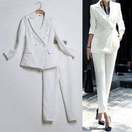 8ec87e61dd0 костюмы офисной формы Скидка женский бизнес куртка + брюки женские деловые  костюмы женские брючный костюм офис