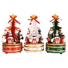 Sapin de Noël Père Noël Merry-Go-Round Boîte à musique en bois Boîte à musique de Noël Cadeau d'anniversaire de mariage 3 couleurs ? partir de fabricateur