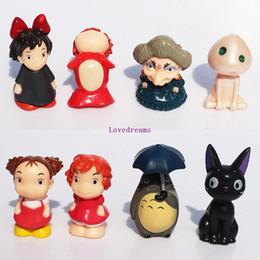 Figuras alejadas enérgicas online-Nueva venta HOT Miyazaki Hayao Figure My Neighbor Totoro PONYO Spirited Away sin teléfono Llaveros Figuras 8 Pcs Set Regalo de los niños