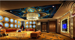 Wholesale Cheap Nursery - cheap wallpapers Fashion 3D European ceiling ceiling high-end murals 3d wallpaper for ceiling