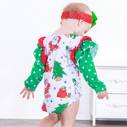 2413e523f47 Cheap Baby clothes Rompers Santa Claus snowman print jumpsuit Long sleeve  jumpsuit girl boy christmas clothes 2211